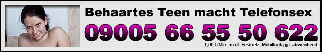 Behaartes Teen macht Telefonsex